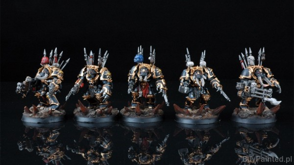 Chaos Space Marines-Terminators Buypainted 1