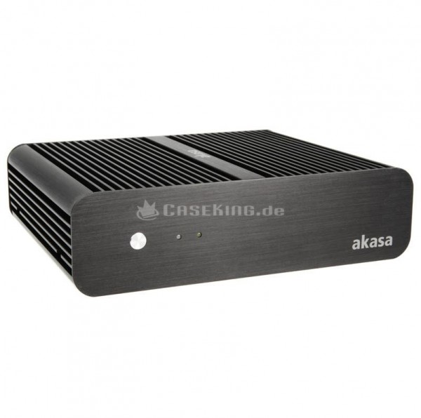 Akasa Euler Fanless Mini ITX Tower Black