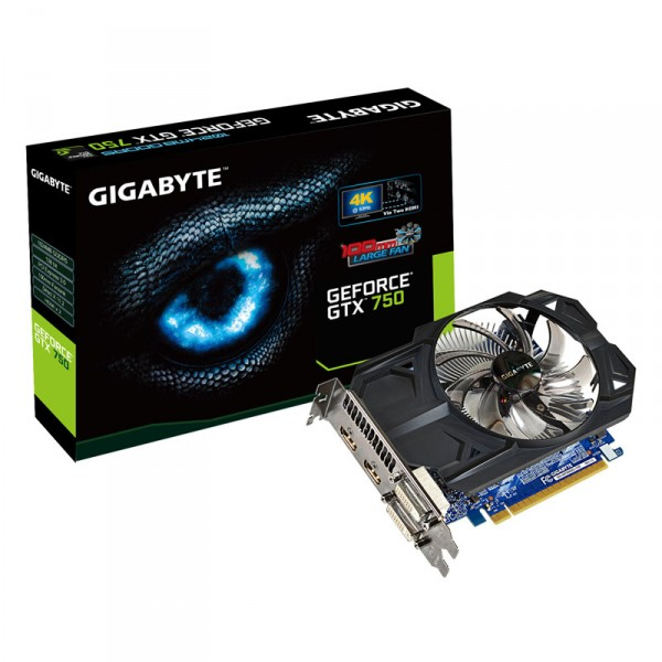Gigabyte GeForce GTX 750 Ti OC, WindForce 2X, 2048 MB DDR5, HDMI