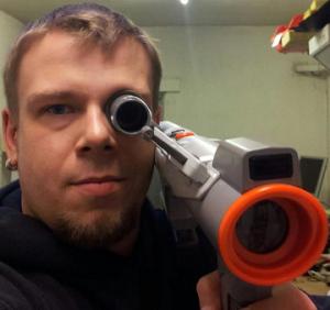 Der Autor mit einer SuperScope Lightgun