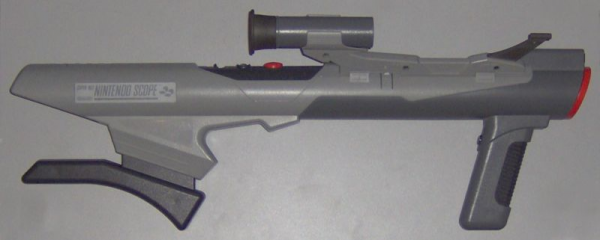 Die Super-Scope Lightgun, nicht in Deutschland erschienen