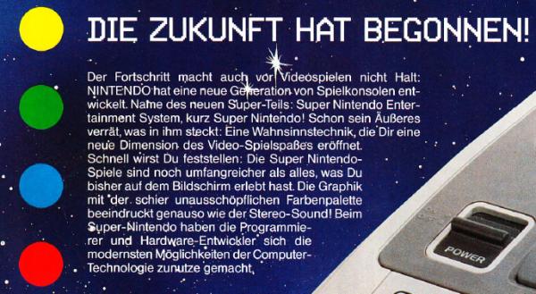 Auszug aus dem Club Nintendo Magazin, Ausgabe 03/1992