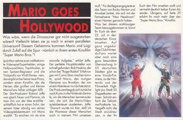 Auszug aus dem Club Nintendo Magazin, Ausgabe 03/1993