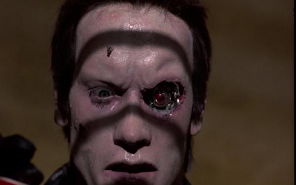Der beschädigte T800 Quelle: The Terminator - BluRay-Fassung