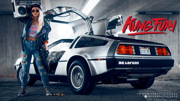 kungfury-DeLorean