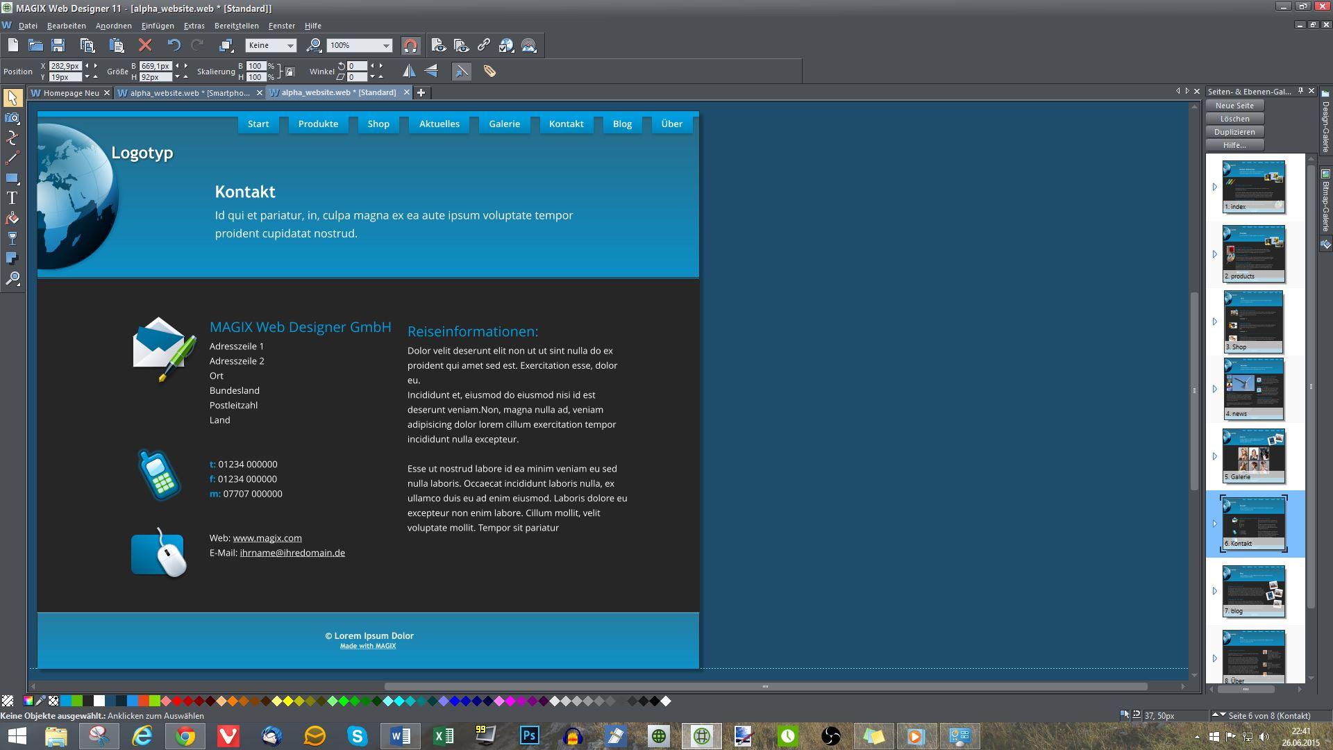 Magix Web Designer 11 – Review / Test - game2gether