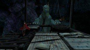 Jetzt ist laufen angesagt. Der Drache hat Graham entdeckt und sieht in als Eindringling in seiner Höhle... seinem zuhause.