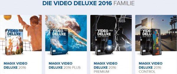 Die Magix Video Deluxe 2016 Versionen.