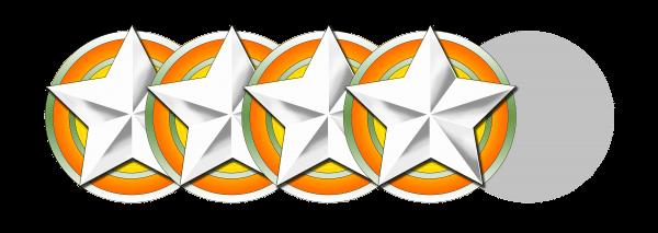 """Unsere Wertung: """"Deutliche 4 von 5 Sternen"""""""