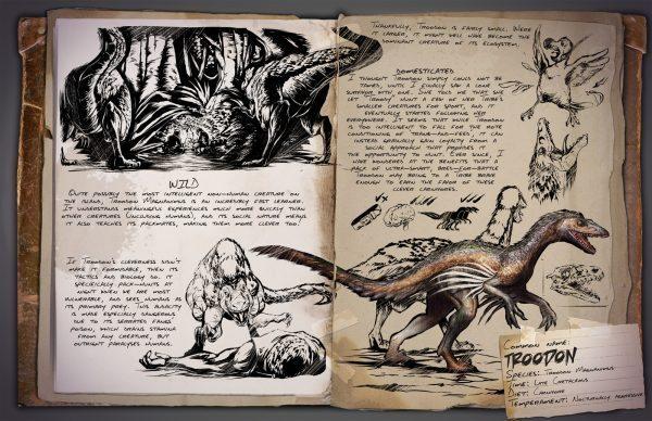 Name: Troodon Spezies: Troodon Magnanimus Zeit: späte Kreidezeit Nahrung: Fleischfresser Temperament: nachts aggressiv Erschienen: nein (angekündigt mit Patch v253.0 für den 21.12.16)