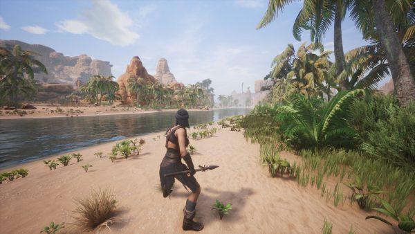 Conan Exiles Test Startgebiet Flussufer