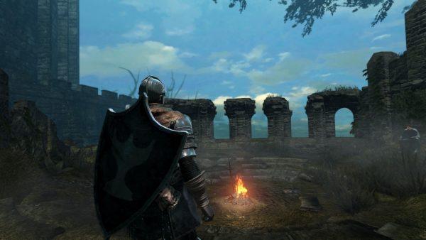 Dark Souls Remastered Test Lagerfeuer