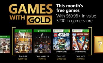 Games with Gold September 2018