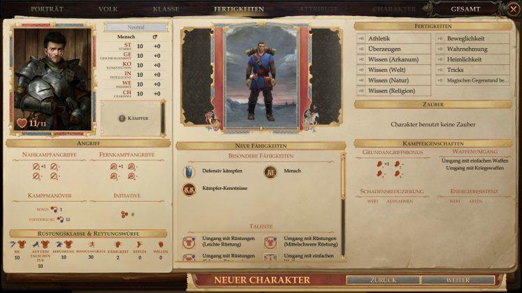 Pathfinder_Kingmaker_Test Charakter