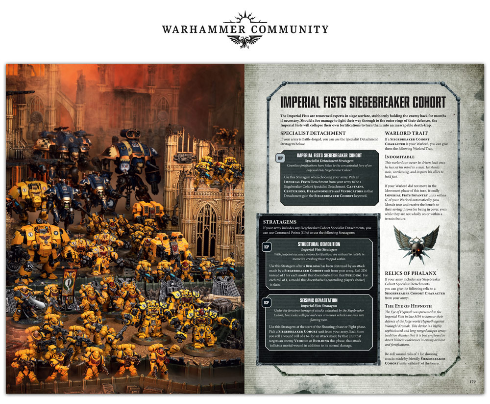 Warhammer 40k Chapter Approved 2018 Imperial Fists Game2gether