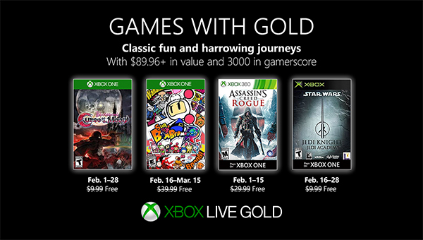 Games with Gold Februar 2019