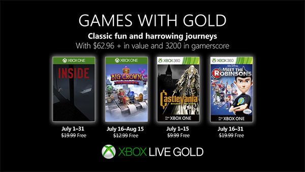 Games with gold juli 2019