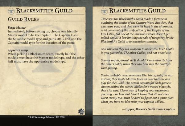 Guild Ball Schmiede Karte