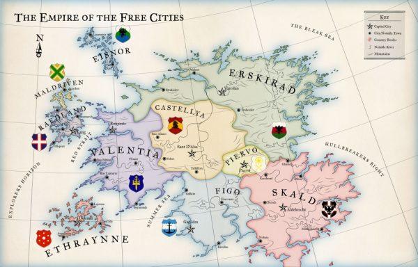Guild Ball Karte Kontinent Freie Städte