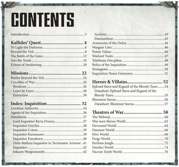 Inhaltsverzeichnis für Pariah