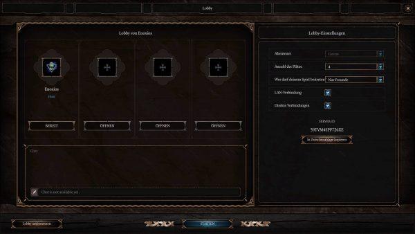 LAN und Online Modus von Baldurs Gate 3