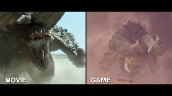 Monster Hunter Movie Face to face