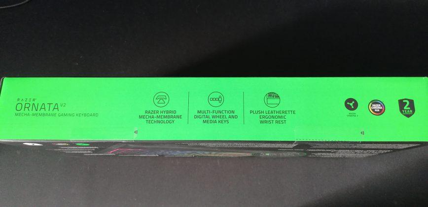 Razer Ornata V2 Gaming Tastatur Verpackung
