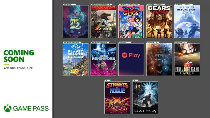 Game Pass November 2020