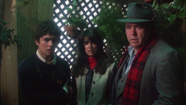 Billy (Z. Galligan), Kate (P. Cates) und Randall Pelzer (Hoyt Axton) Quelle: Blu-ray