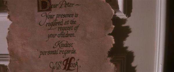 Ein Brief von Hook Quelle: Blu-ray