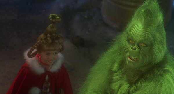 Taylor Momsen als Cindy Lou Who und Jim Carrey als Grinch Quelle: Blu-ray