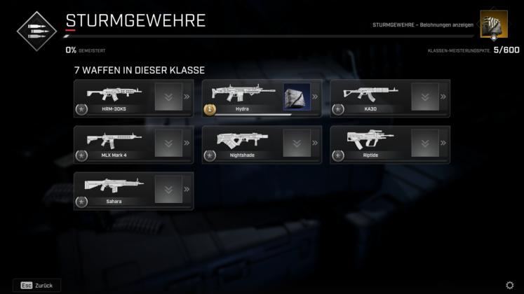 Rogue Company Waffenlevel