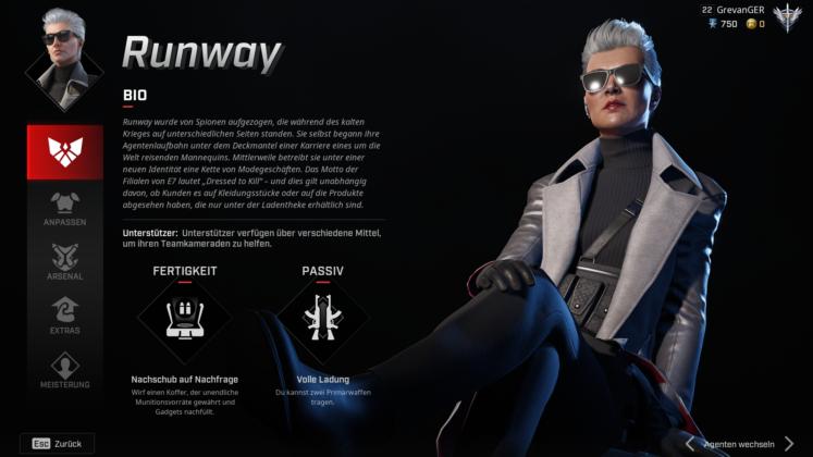 Rogue Company Runway Profil