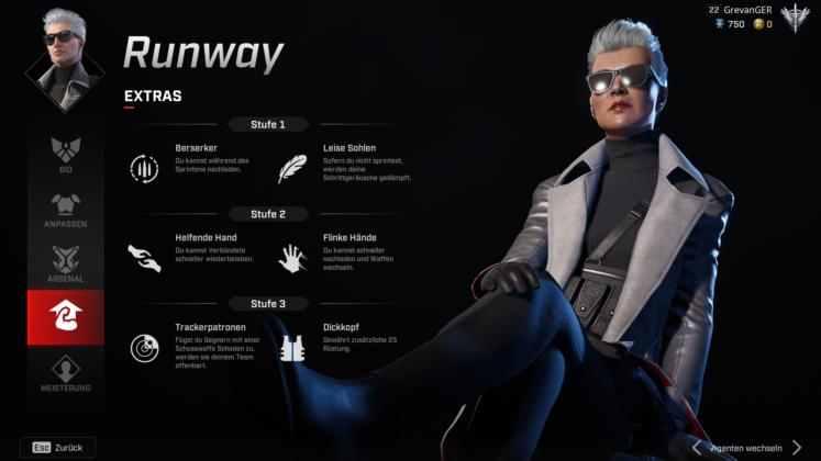 Rogue Company Runway Perks