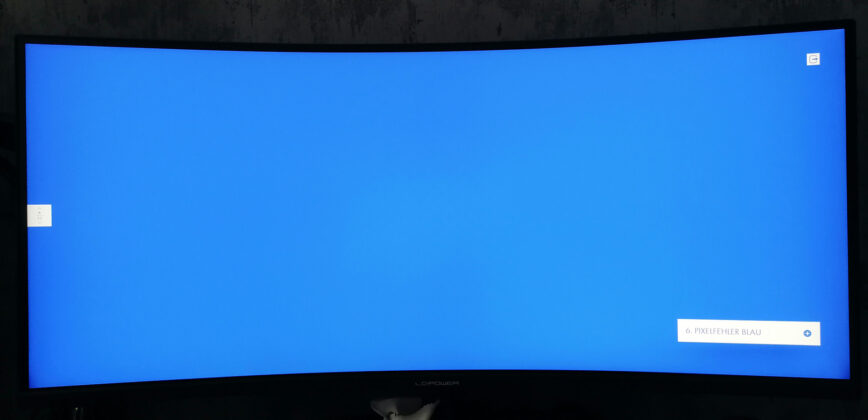 LC-Power LC-M34-UWQHD-144-C-V2 Pixeltest Blau