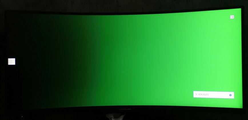 LC-Power LC-M34-UWQHD-144-C-V2 Monitortest Verlauf Grün