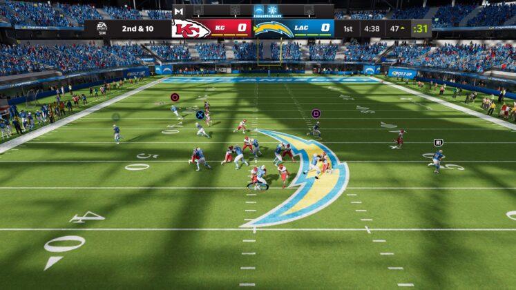 Madden NFL 2022 Hilfreiche Tastenanzeigen